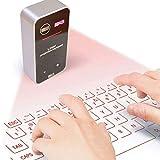 Teclado Virtual, Teclado inalámbrico Bluetooth de proyección láser para iPad...