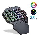 TOP STAR Teclado mecánico para juegos de una mano K50 RGB retroiluminado con...