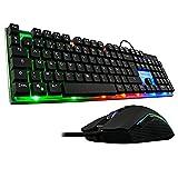 The G-Lab Combo Zinc Pack de Teclado Gaming USB y Ratón Multicolor Retroiluminación...