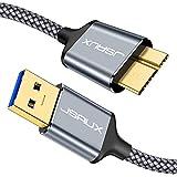 JSAUX Cable USB Micro B 3.0 2Pack[1M+2M] Tipo A a Micro B Macho 3.0 Cable de Disco...