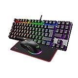 havit Teclado mecánicos Gaming español con Cable, Teclados Gaming con Interruptor...