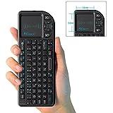 Rii Mini X1 teclado inalámbrico con ratón táctil - compatible con Smart TV, Mini...