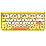 Teclado Bluetooth inalámbrico, lindo teclado compacto Mini de 84 teclas, tecnología...