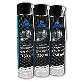 3 x AAB PC Spray Limpiador 750ml para Limpiar Teclados, Ordenadores, Copiadoras,...