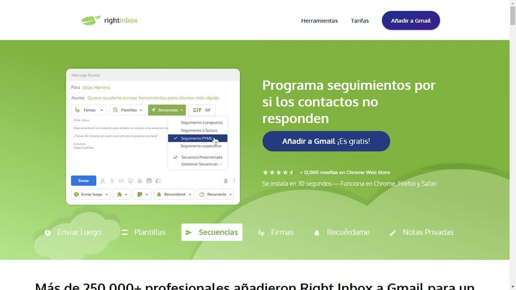 Aplicación Rightinbox
