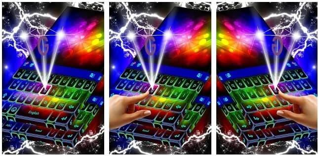 Aplicación de Teclado de Colores