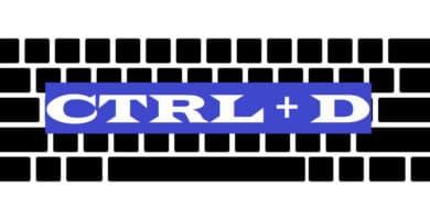 CTRL + D