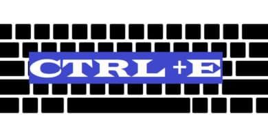 CTRL + E