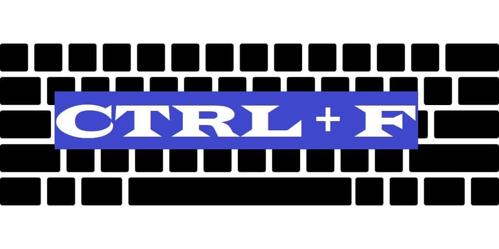 CTRL + F