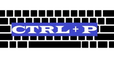 CTRL + P