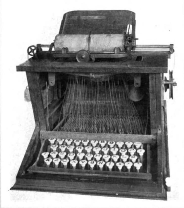 Christopher Sholes Typewriter QWERTY 1873