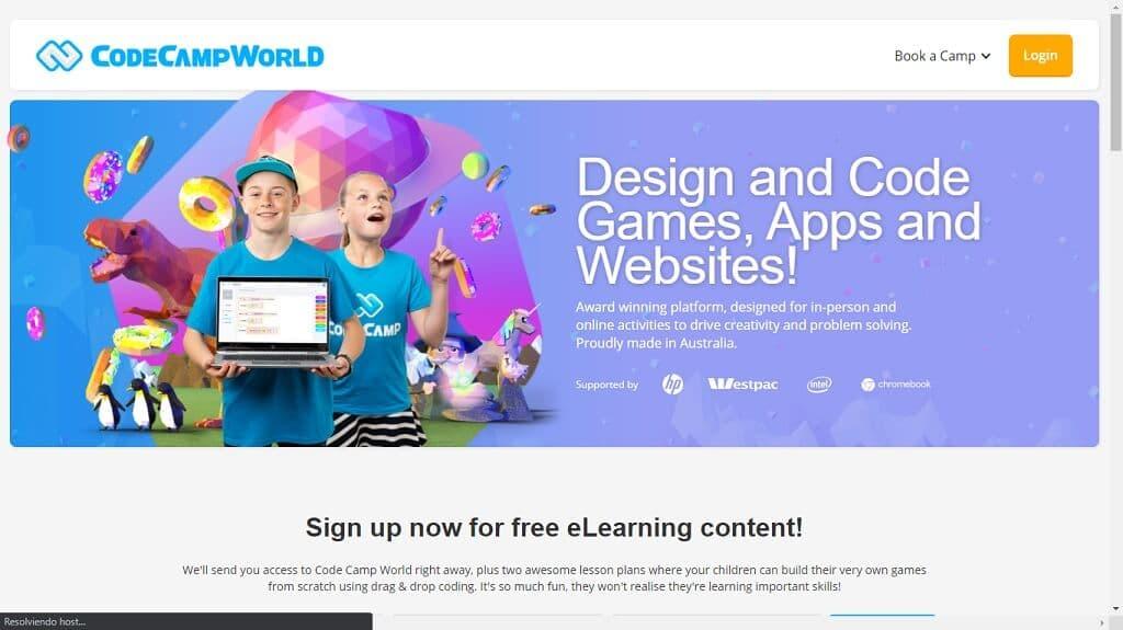 CodeCampWorld Aprender Programación para Niños