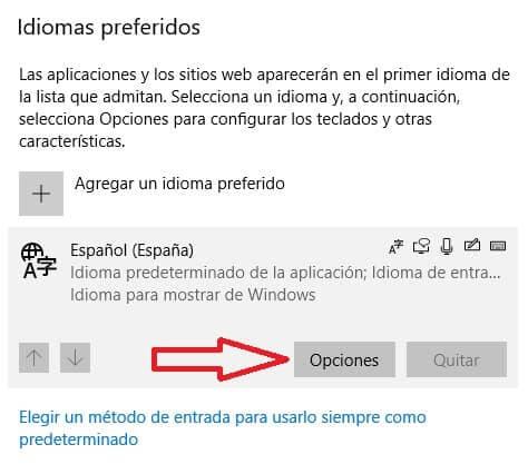 Configuración teclado windows 10 paso 6