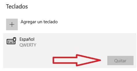 Configurar Teclado windows 10 paso 9