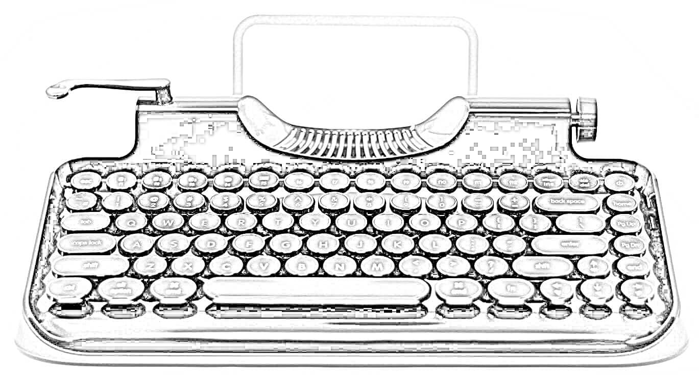 Dibujo Teclado Estilo Máquina de Escribir