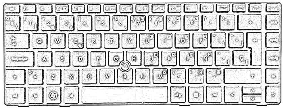 Dibujo Teclado Ordenador Laptop
