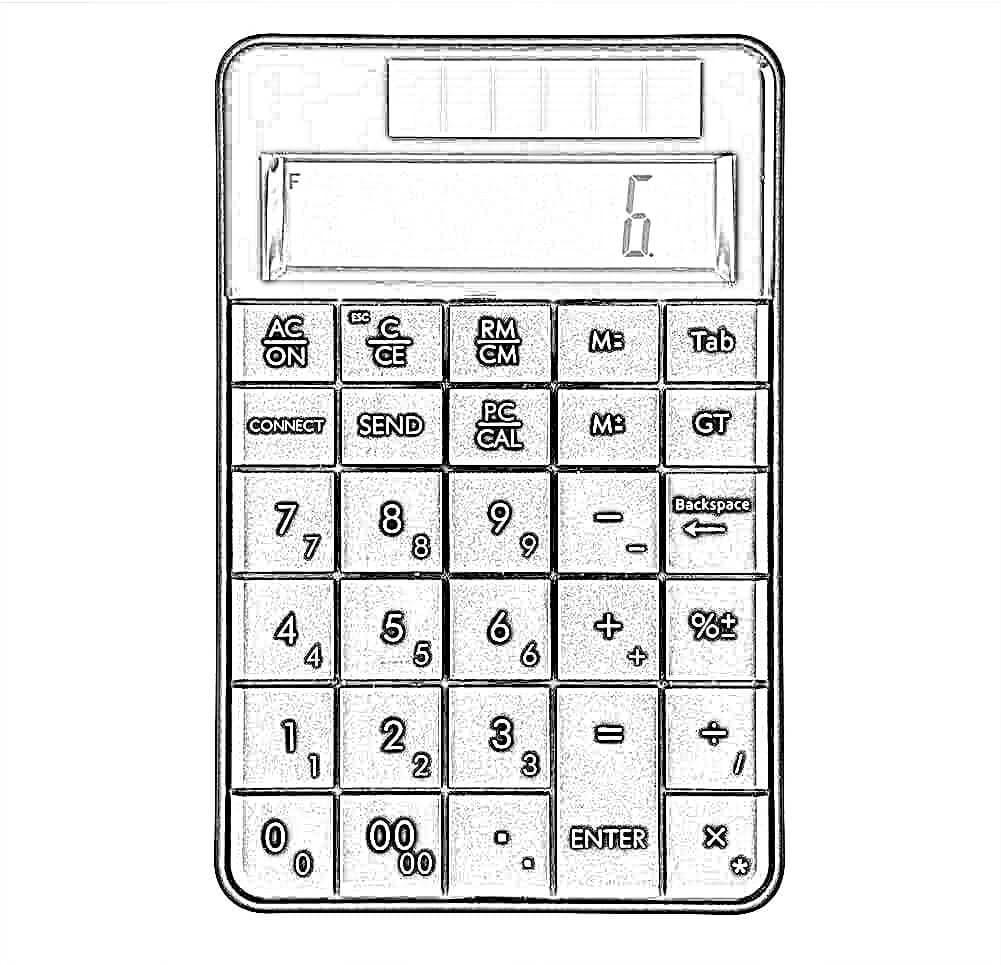 Dibujo Teclado de Calculadora