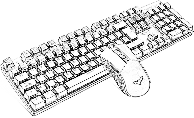 Dibujo Teclado de Computadora y Ratón