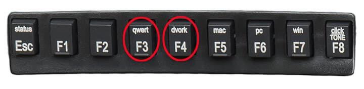 Intercambio de tipo de teclado