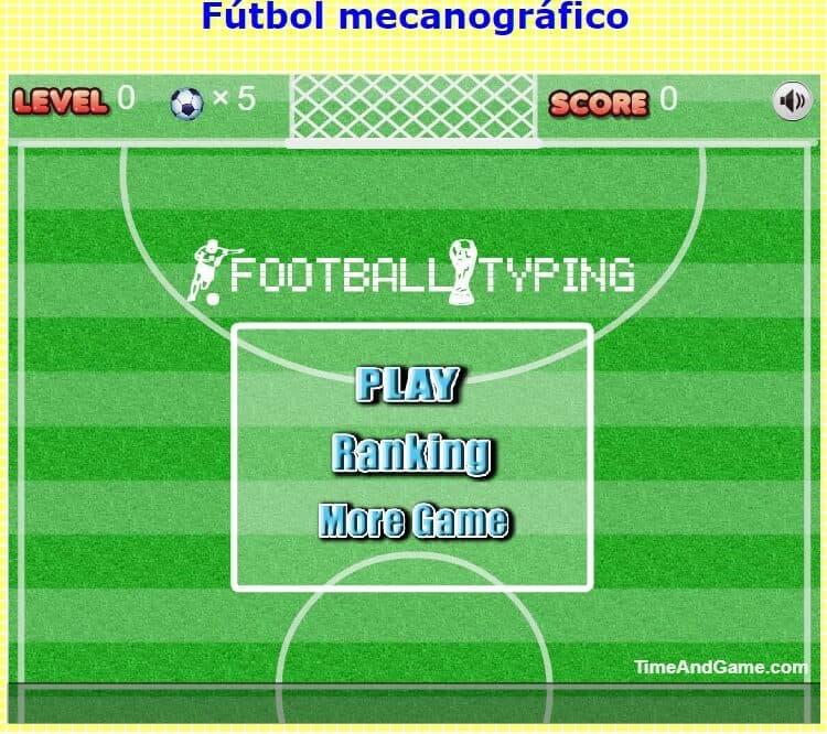 Juego de fútbol para mecanografiar
