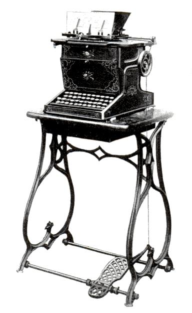 Modelo Comercial de Máquina de Escribir Remington 1