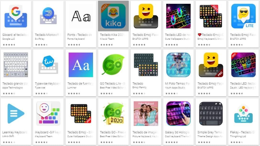 Teclado Android para Smartphone